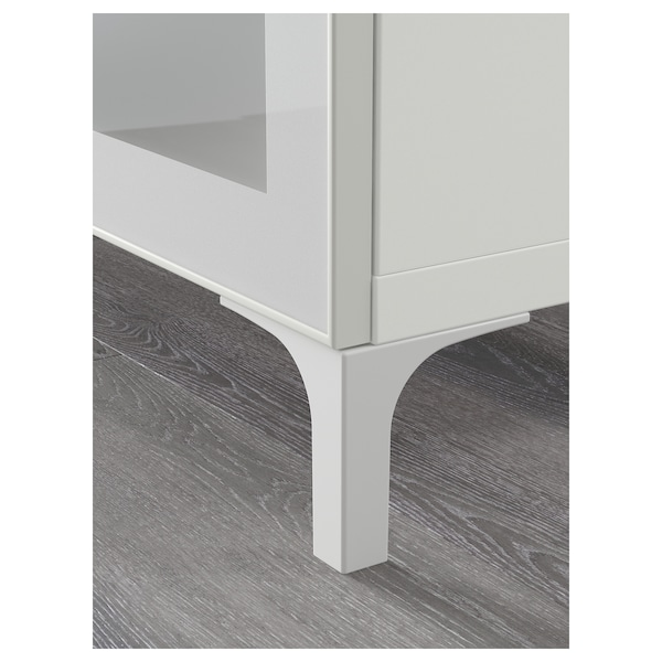 BESTÅ TV bench with drawers, white/Selsviken/Nannarp high-gloss/beige frosted glass, 180x42x74 cm