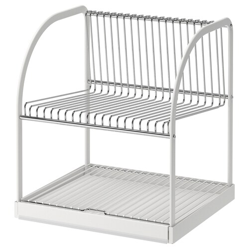 BESTÅENDE dish drainer silver-colour/white 32 cm 29 cm 36 cm
