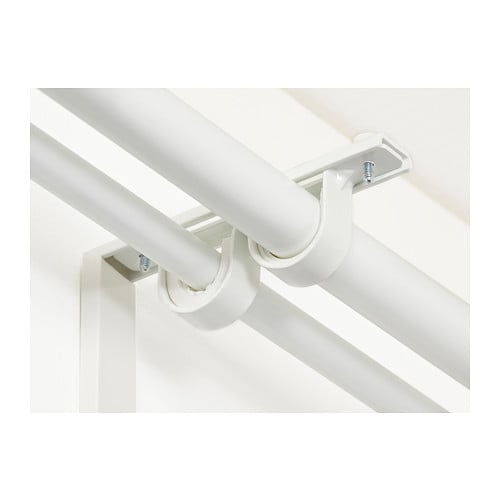 BETYDLIG Curtain rod holder IKEA You can mount it in BETYDLIG wall/celling bracket to create a bracket for double rod.