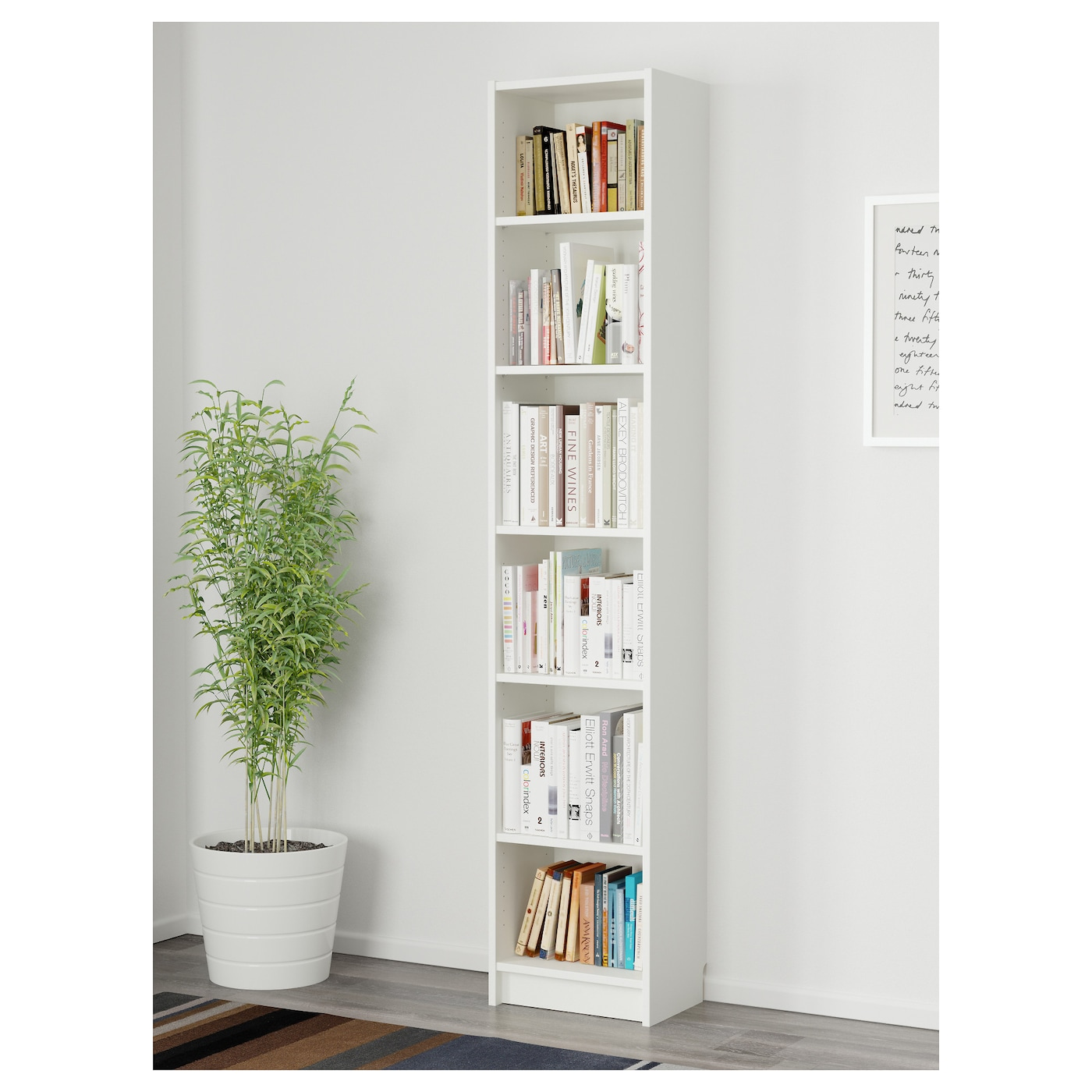 Billy Bookcase White Stained Oak Veneer