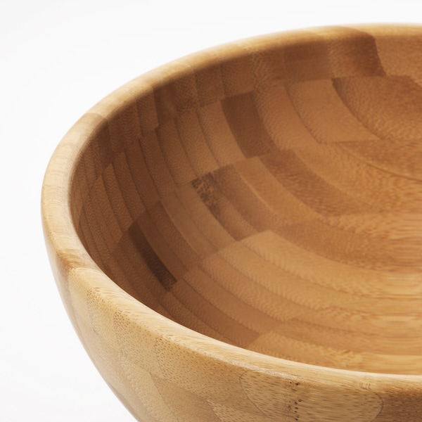 BLANDA MATT Serving bowl, bamboo, 20 cm