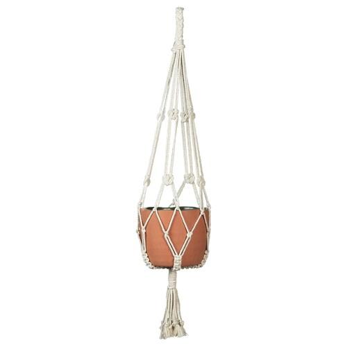 BOTANISK plant pot hanger beige handmade 90 cm 10 kg