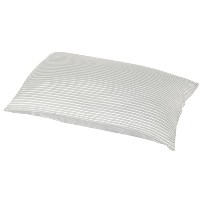 BRANDLILJA Pillowcase, grey/stripe, 50x80 cm