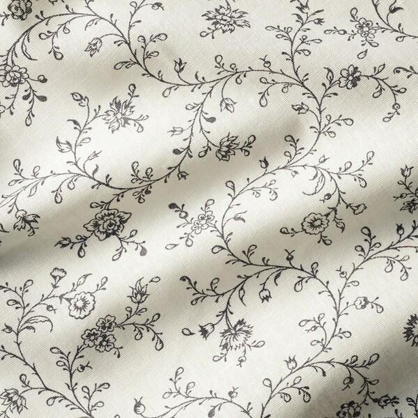 BRANDNÄVA Curtains, 1 pair, white/grey, 145x250 cm