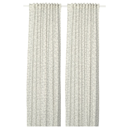 BRANDNÄVA curtains, 1 pair white/grey 250 cm 145 cm 1.49 kg 3.63 m² 2 pieces