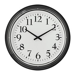 BRAVUR wall clock, black