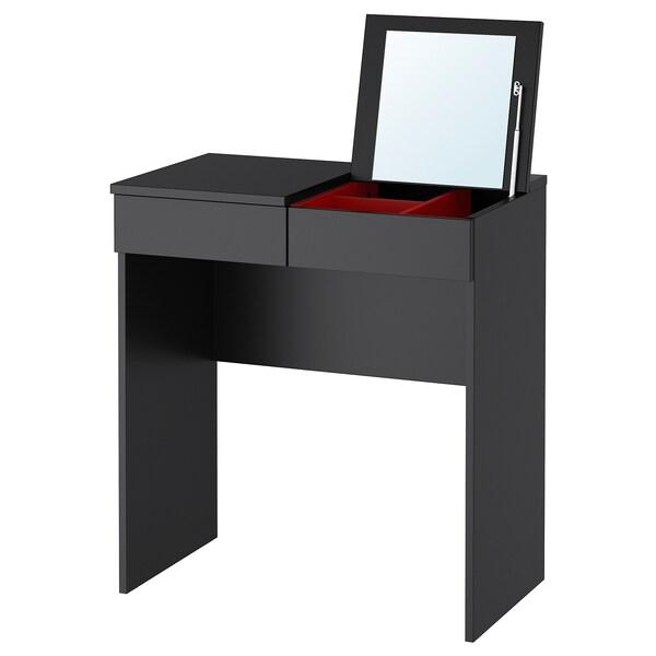 BRIMNES Dressing table, black, 70x42 cm
