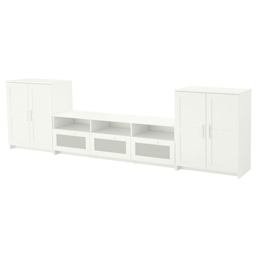 BRIMNES TV storage combination white 336 cm 41 cm 95 cm