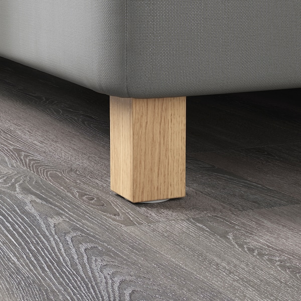 BURFJORD Leg, oak, 10 cm