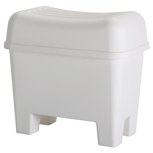 BURSJÖN stool with storage white 56 cm 34 cm 52 cm 85 kg