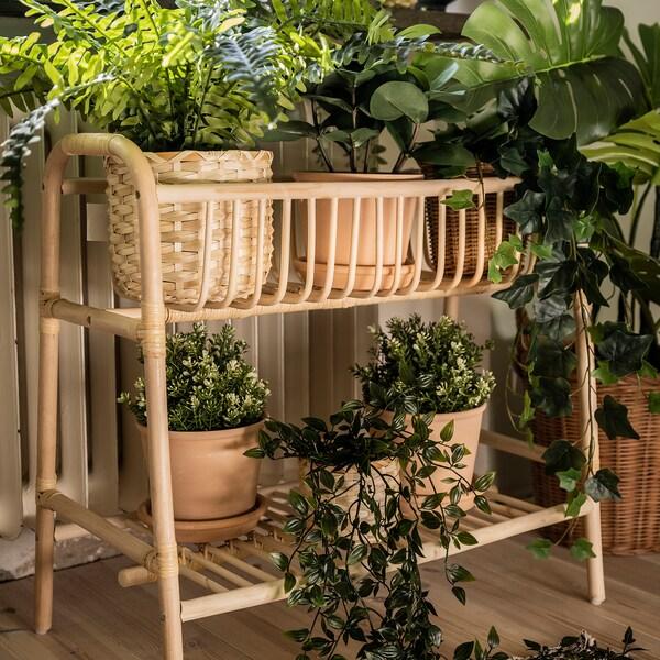BUSKBO Plant stand, rattan, 60 cm