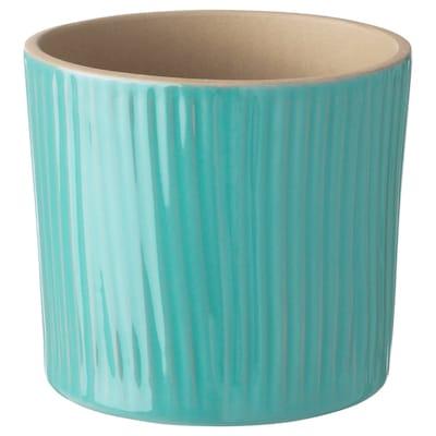 CHIAFRÖN plant pot turquoise 10 cm 11 cm 9 cm 10 cm