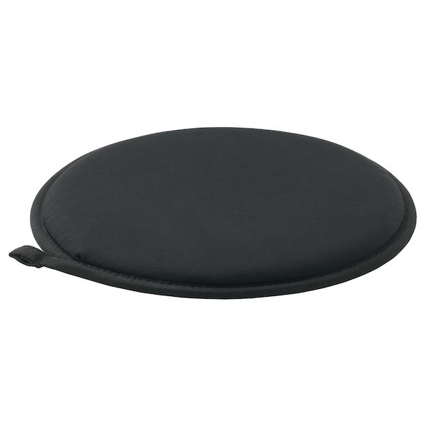 CILLA Chair pad, black, 34 cm