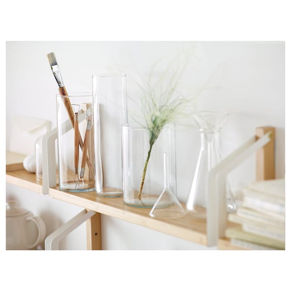 CYLINDER Vase, set of 3, clear glass
