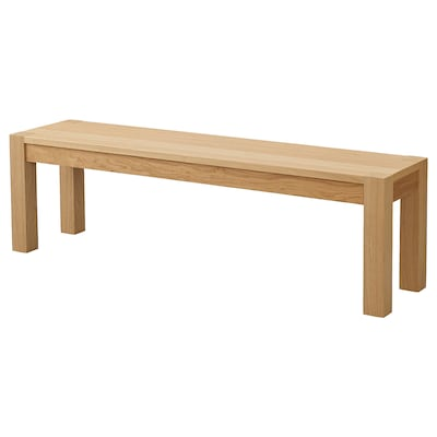 DAGLYSA Bench, oak veneer, 118x38 cm