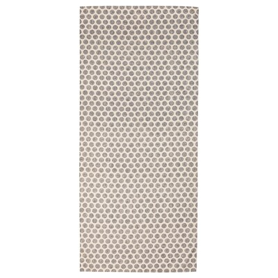 DEKORERA Tablecloth, dotted natural/grey, 145x240 cm
