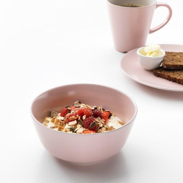 DINERA Bowl, light pink, 14 cm