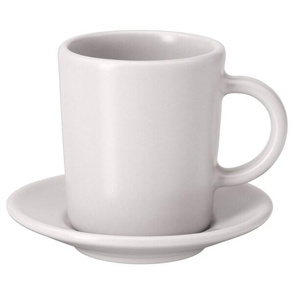 DINERA Espresso cup and saucer, beige, 9 cl