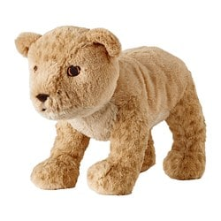 DJUNGELSKOG soft toy, lion cub
