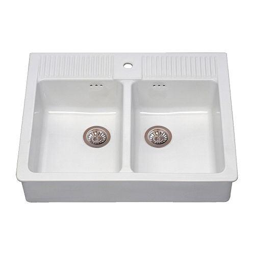 DOMSJÖ Double Bowl Sink