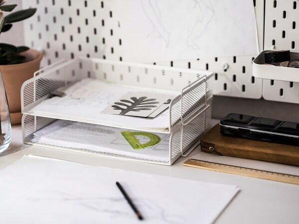 DRÖNJÖNS Letter tray, white