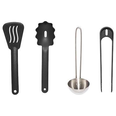DUKTIG 4-piece toy kitchen utensil set, multicolour