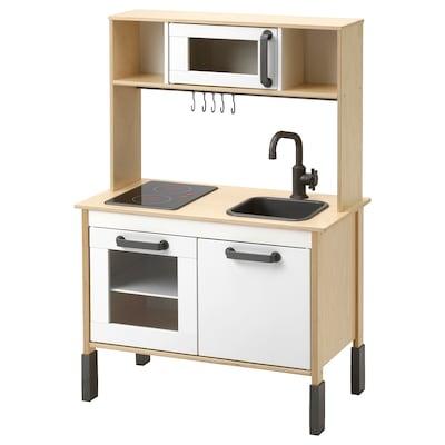 DUKTIG Play kitchen, birch, 72x40x109 cm