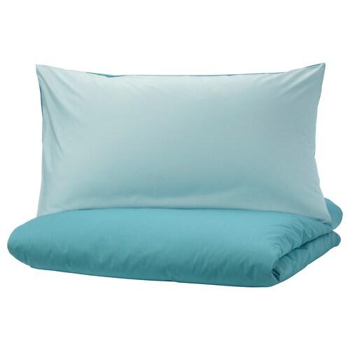 DVALA quilt cover and 2 pillowcases blue 152 /inch² 2 pieces 230 cm 200 cm 50 cm 80 cm