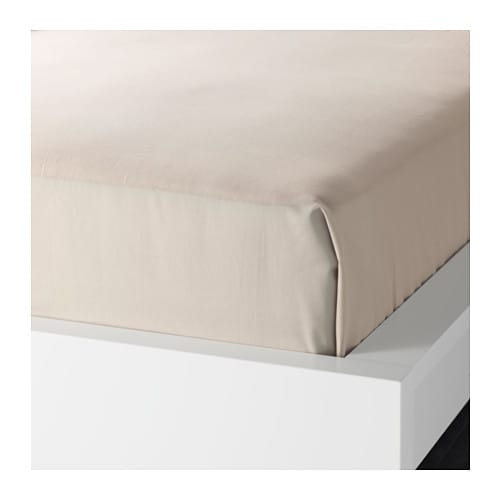DVALA Sheet IKEA Pure cotton that feels soft and nice against your skin.