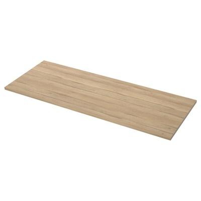 EKBACKEN worktop light oak effect/laminate 186 cm 63.5 cm 2.8 cm