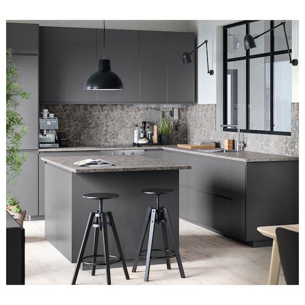 EKBACKEN worktop dark grey marble effect/laminate 186 cm 63.5 cm 2.8 cm