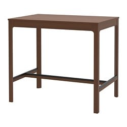 EKEDALEN bar table, brown
