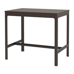 EKEDALEN bar table, dark brown