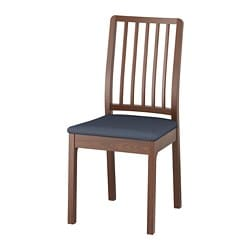 EKEDALEN chair, brown, Orrsta black-blue