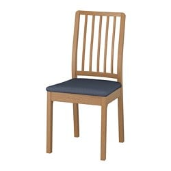EKEDALEN chair, oak, Orrsta black-blue