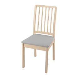 EKEDALEN chair, birch, Orrsta light grey