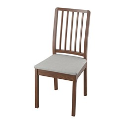 EKEDALEN chair, brown, Orrsta light grey