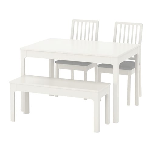 EKEDALEN / EKEDALEN Table with 2 chairs and bench - IKEA