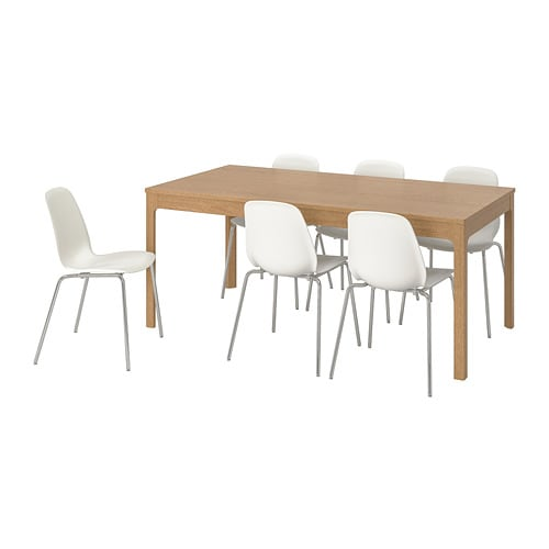 EKEDALEN / LEIFARNE Table and 6 chairs
