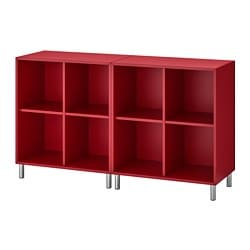 EKET cabinet combination with legs, red