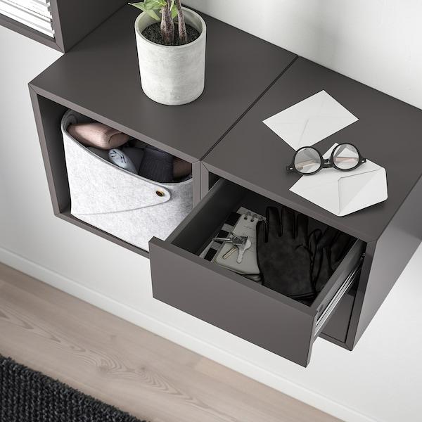 EKET Wall-mounted storage combination, dark grey, 105x35x70 cm