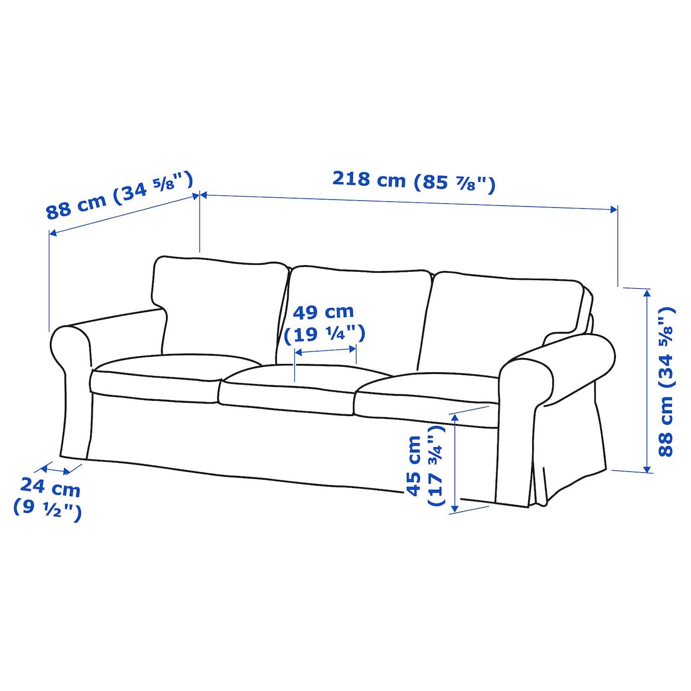Ektorp 3 Seat Sofa Hallarp Beige Ikea