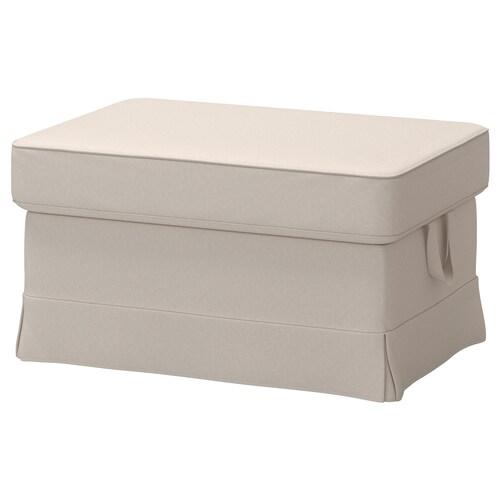EKTORP footstool Lofallet beige 82 cm 62 cm 44 cm