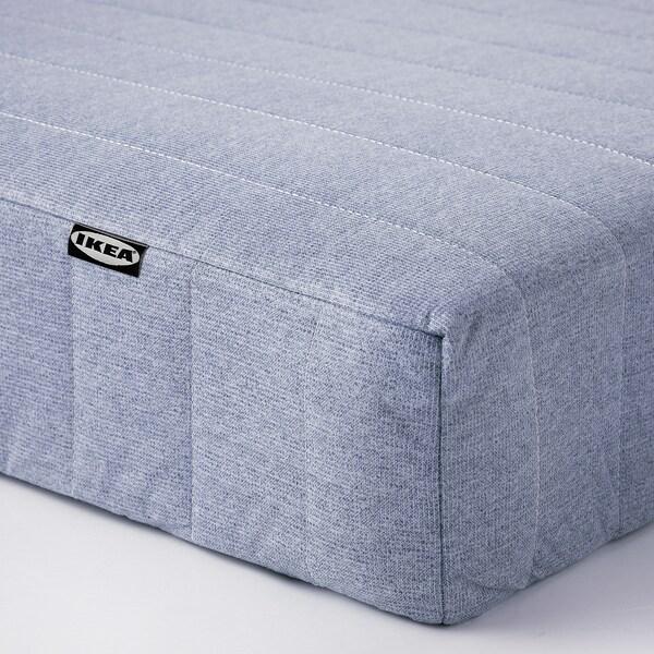 ESPEVÄR/VADSÖ Divan bed, white/extra firm light blue, 90x200 cm