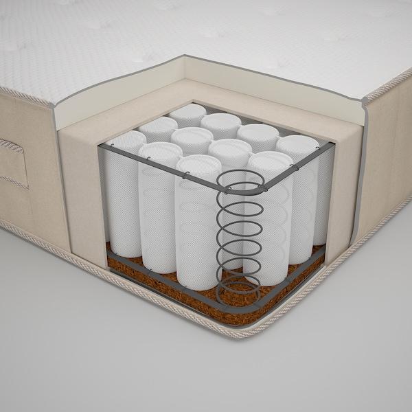 ESPEVÄR/VATNESTRÖM Divan bed, white/extra firm natural, 180x200 cm