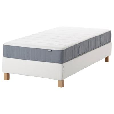 ESPEVÄR/VESTERÖY Divan bed, white/extra firm light blue, 90x200 cm