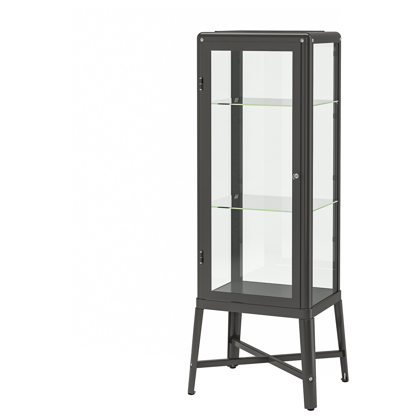 Fabrikor Glass Door Cabinet Dark Grey Ikea