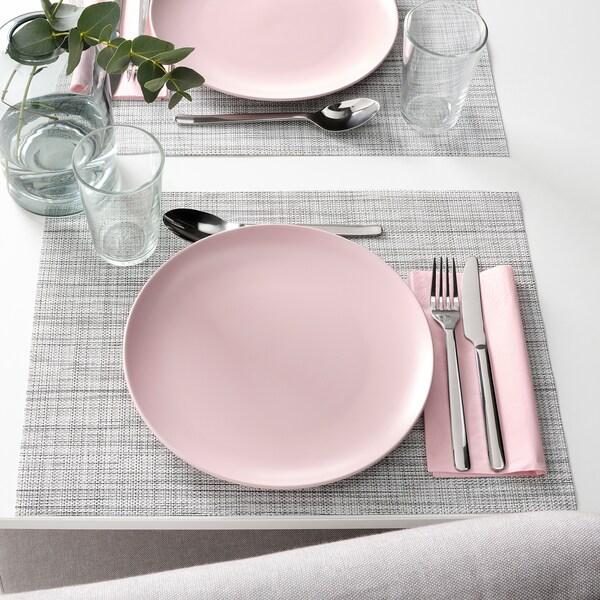 FÄRGKLAR Plate, matt light pink, 26 cm