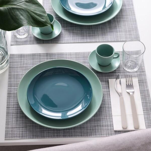 FÄRGKLAR Side plate, glossy dark turquoise, 20 cm