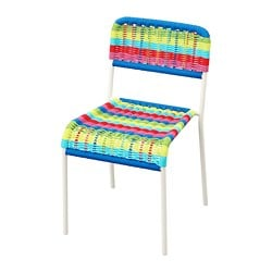 FÄRGGLAD children's chair, multicolour in/outdoor, multicolour